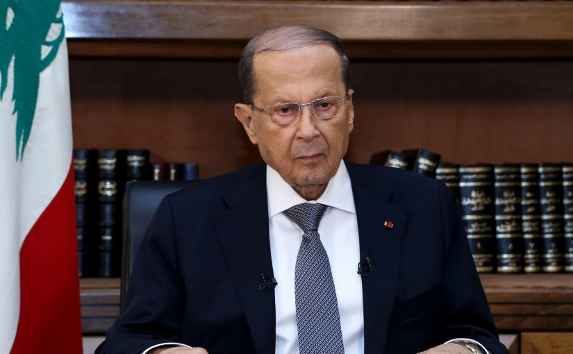 Presidential message to the Lebanese before parliamentary elections.