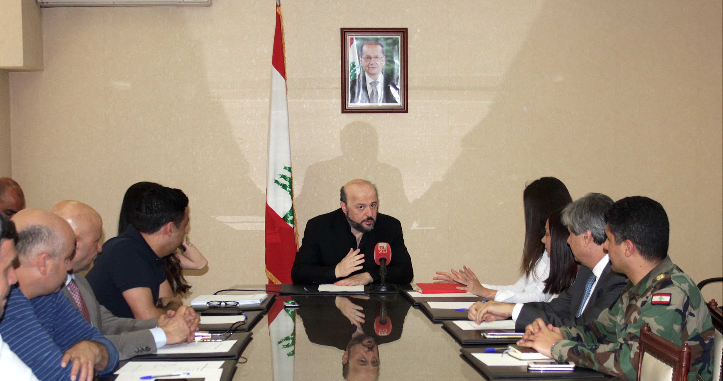Press Conference for Minister Melhem Riachi