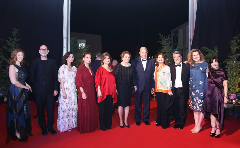 The first Lady Ms.Nadia El-Chami Aoun attends Heartbeat gala dinner.  13 April 2018