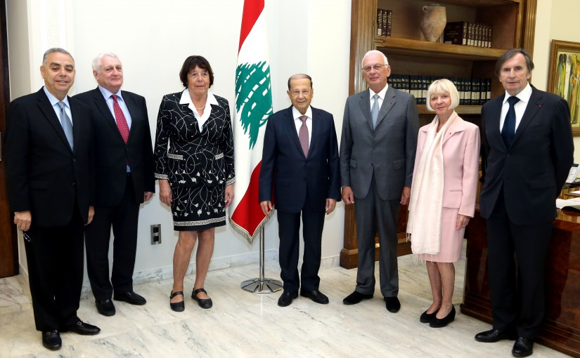 President Michel Aoun meets Ms. Catherine Brechgnac with a Delegation.