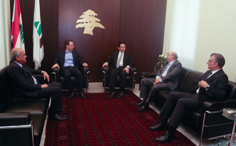 MP Sami Gemayel meets MP Farid el Khazen with a Delegation