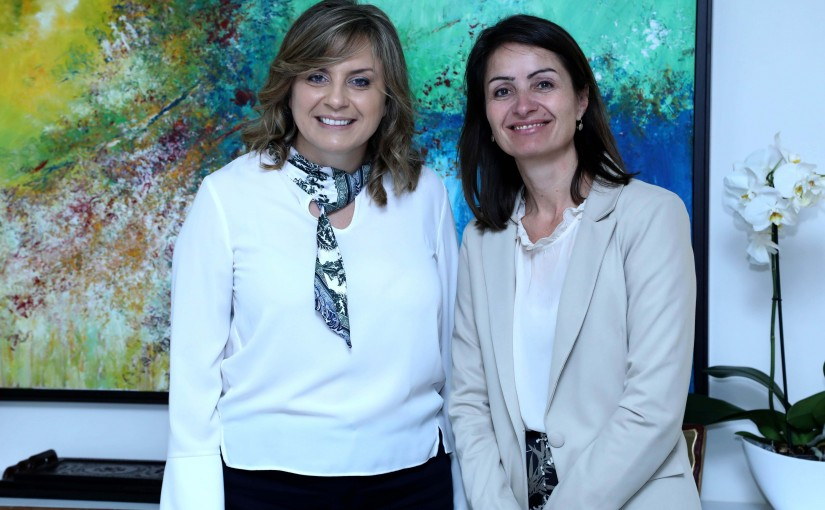 President of the National Commission for Lebanese Women Mrs. Claudine Aoun Roukoz meets EU Ambassador Christina Lassen.