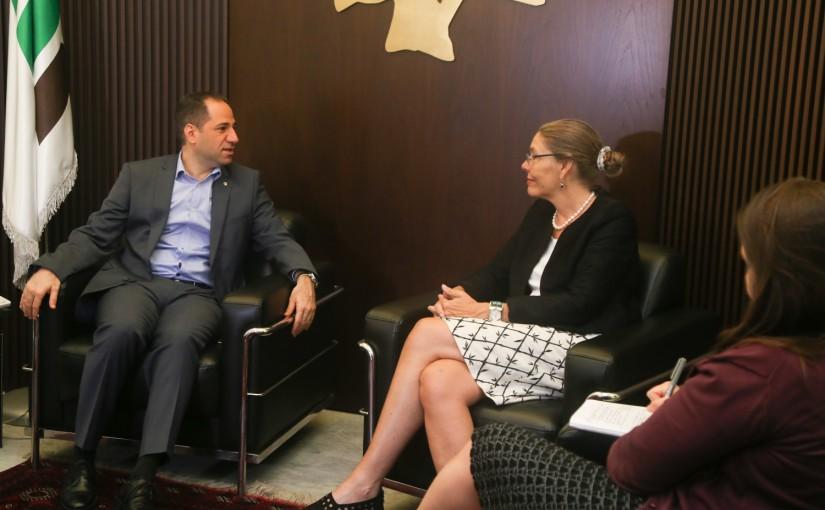 MP Sami Gemayel meets Mr Darell Carrell