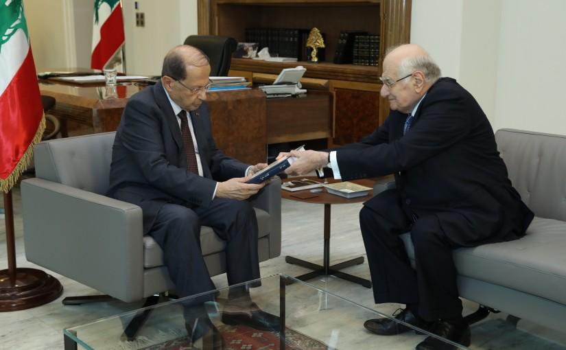 President Michel Aoun meets Former Minister Ramzi Jreij.