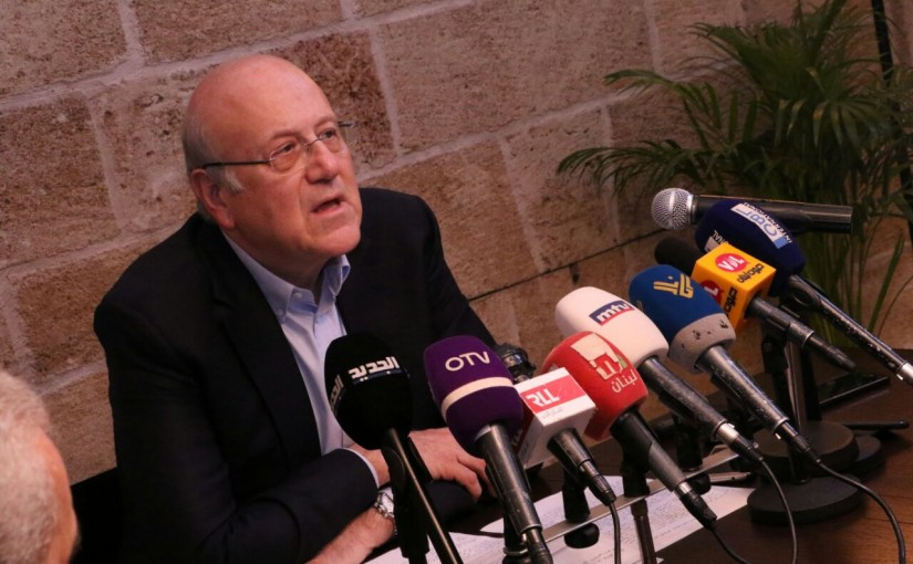 Press Conference for Former Pr Minister Najib Mikati