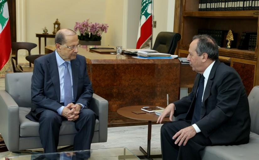 President Michel Aoun meets MP–elect  Jamil Al Sayyed.