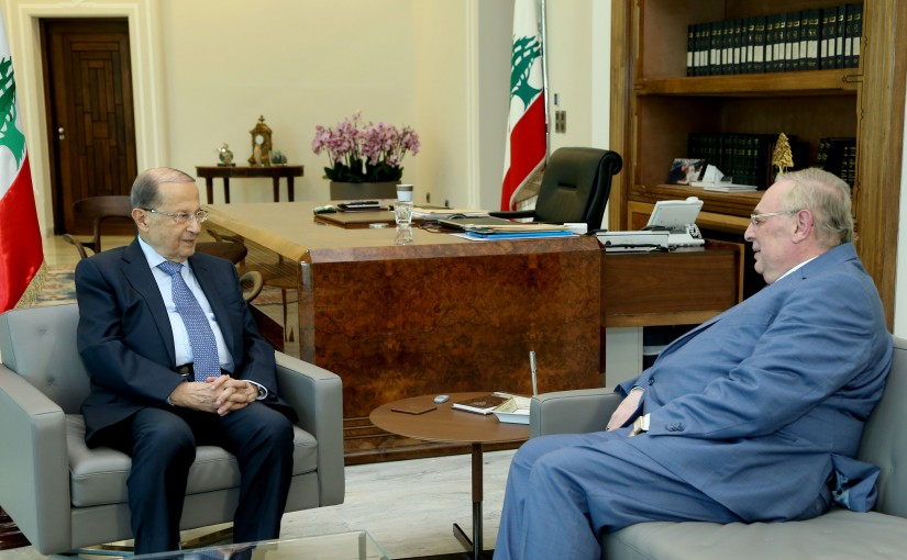 President Michel Aoun meets Elected MP Farid Bustani.