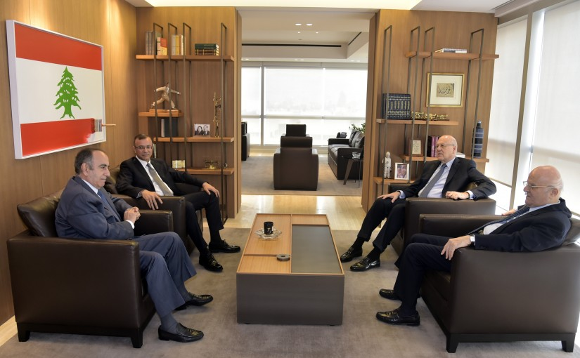 Former Pr Minister Najib Mikati meets a Delegation from Tripoly MPs
