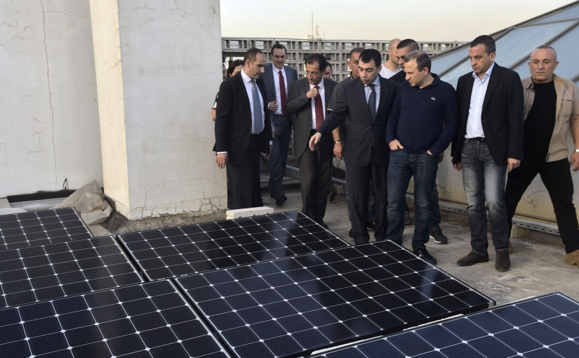 Tours for Minister Gebran Bassil at the Ministry of Electricity