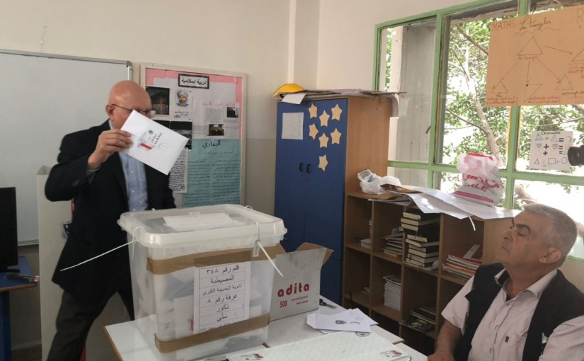 Former Pr Minister Tammam Salam Elects in Beirut