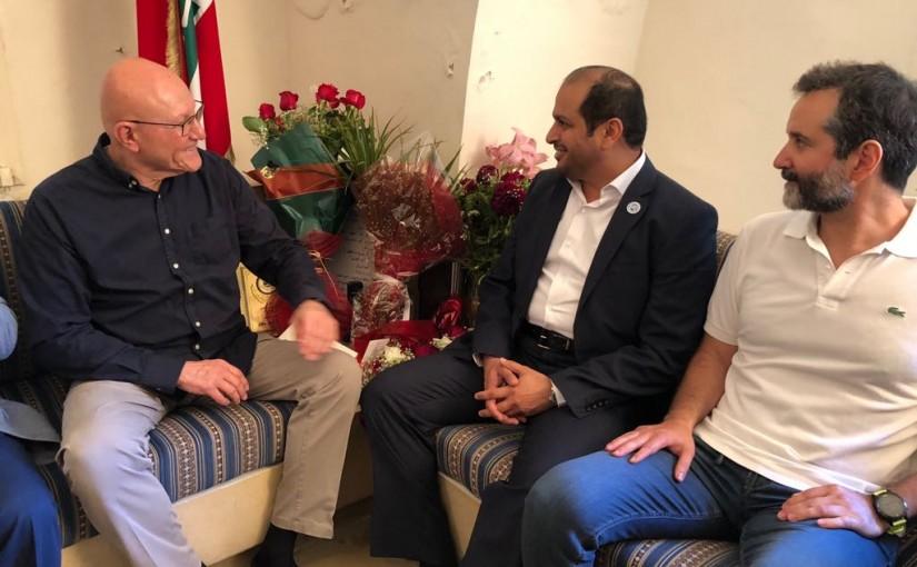 Former Pr Minister Tammam Salam & Mr Saeb Salam meets Emirates Ambassador