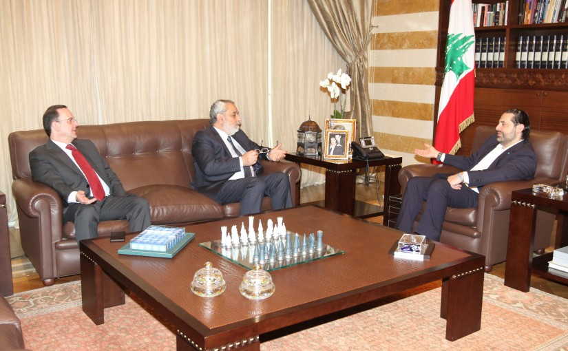 Pr Minister Saad Hariri meets MP Aghob Pakradounian