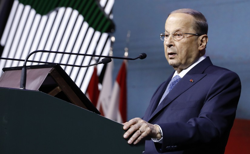President Michel Aoun in Biel to participate in the official opening ceremony of the Lebanese Diaspora Energy Conference (LDE 2018).