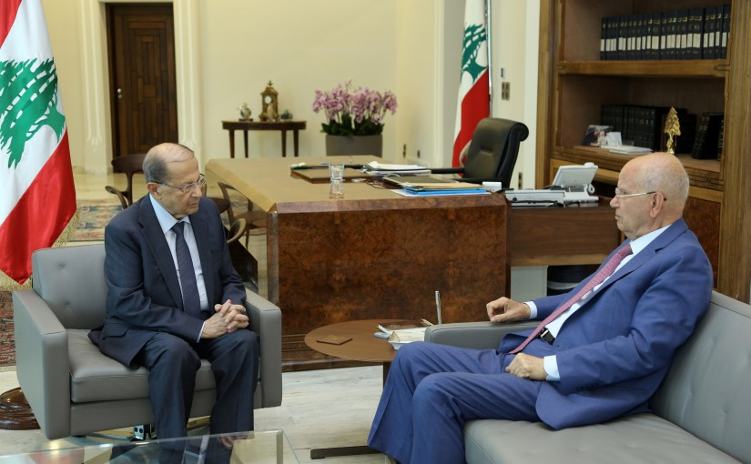 President Michel Aoun meets MP Mr Abdelrahim Mrad.