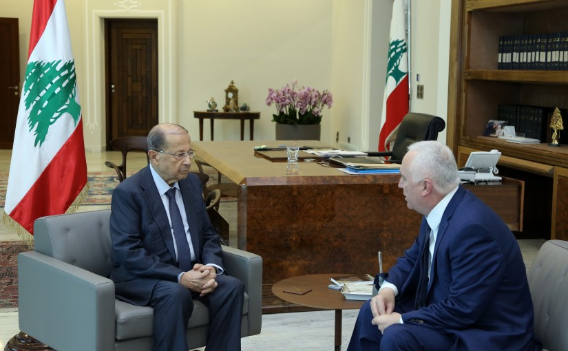 President Michel Aoun meets MP Mr.Michel Daher