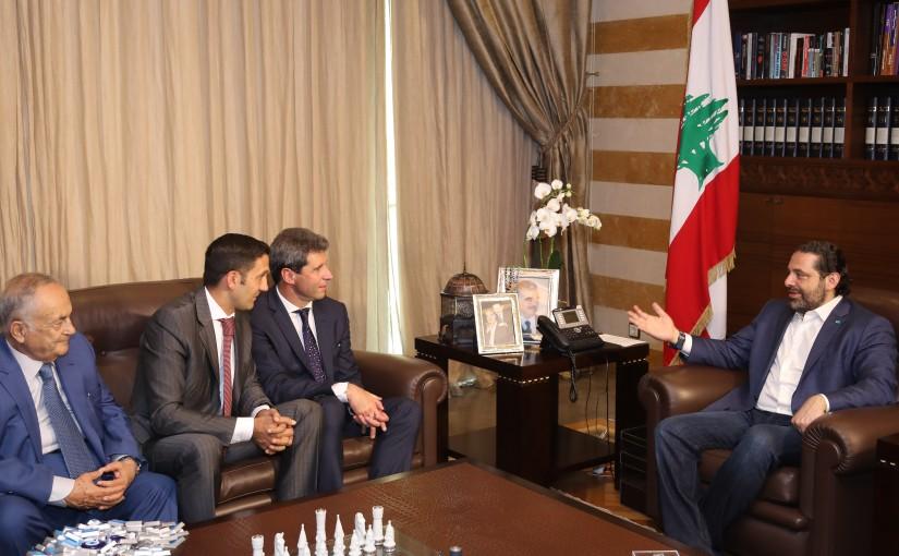 Pr Minister Saad Hariri meets a Argentine Delegation