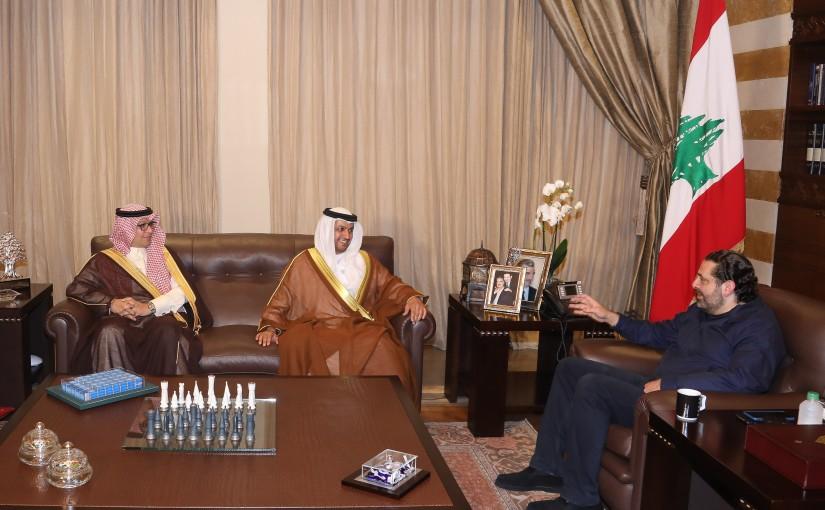 Pr Minister Saad Hariri meets Emirates Ambassador & Saudi Ambassador