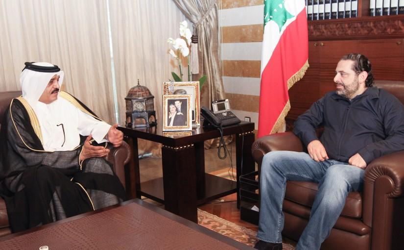 Pr Minister Saad Hariri meets Qatar Ambassador