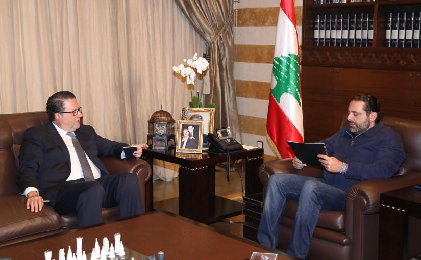 Pr Minister Saad Hariri meets Mr Mouhamad Choukair