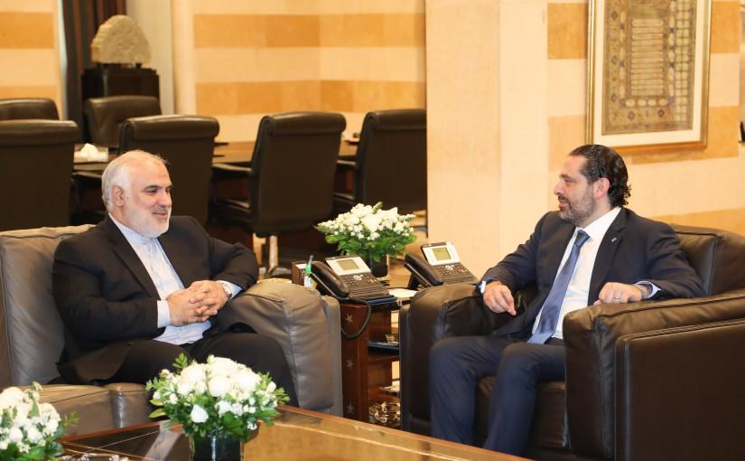 Pr Minister Saad Hariri meets Iranian Ambassador