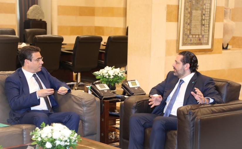 Pr Minister Saad Hariri meets Mr Nicola Sahnaoui