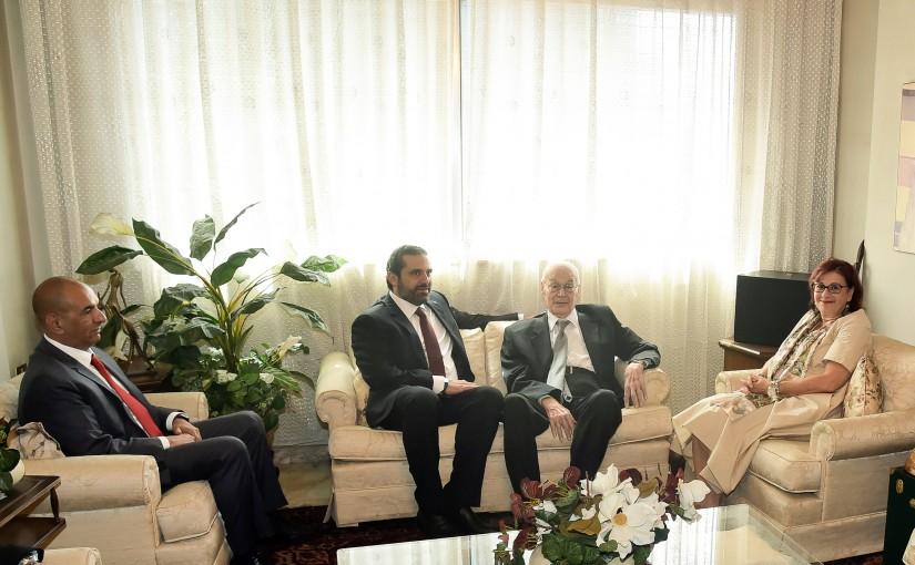 Pr Minister Saad Hariri meets Former Pr Minister Selim Hoss