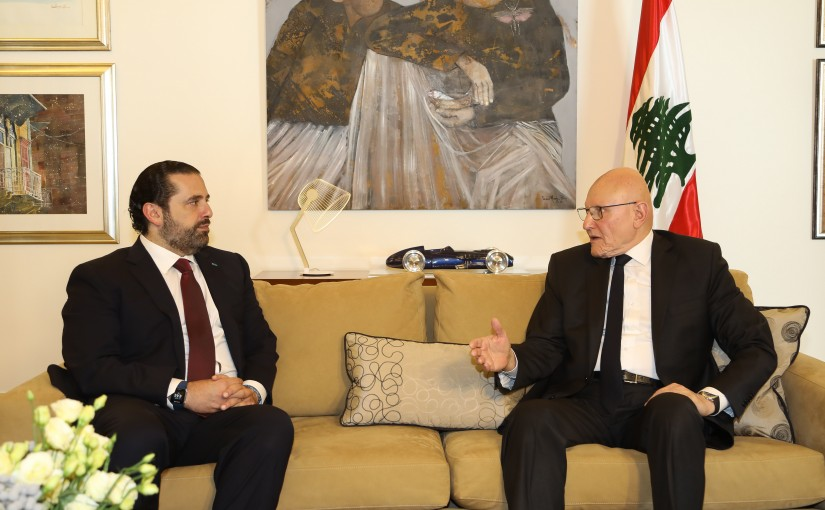 Former Pr Minister Saad Hariri meets Former Pr Minister Tammam Salam