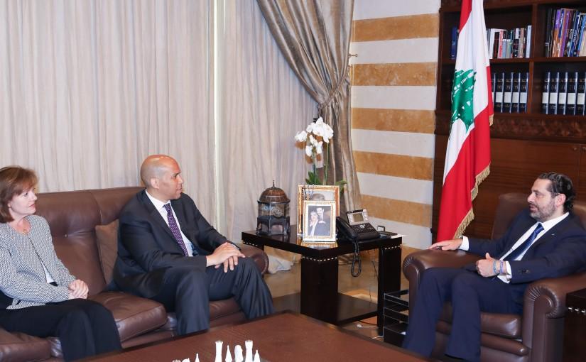 Pr Minister Saad Hariri meets a USA Delegation