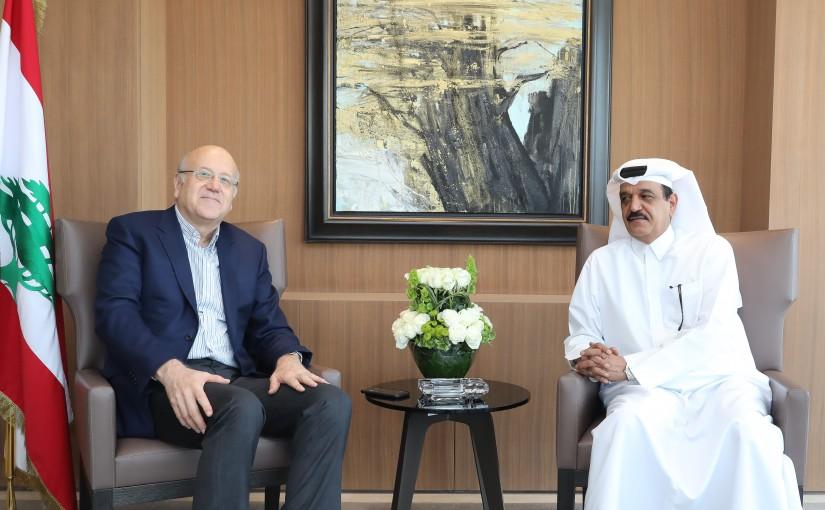 Former Pr Minister Najib Mikati meets Qatar Ambassador