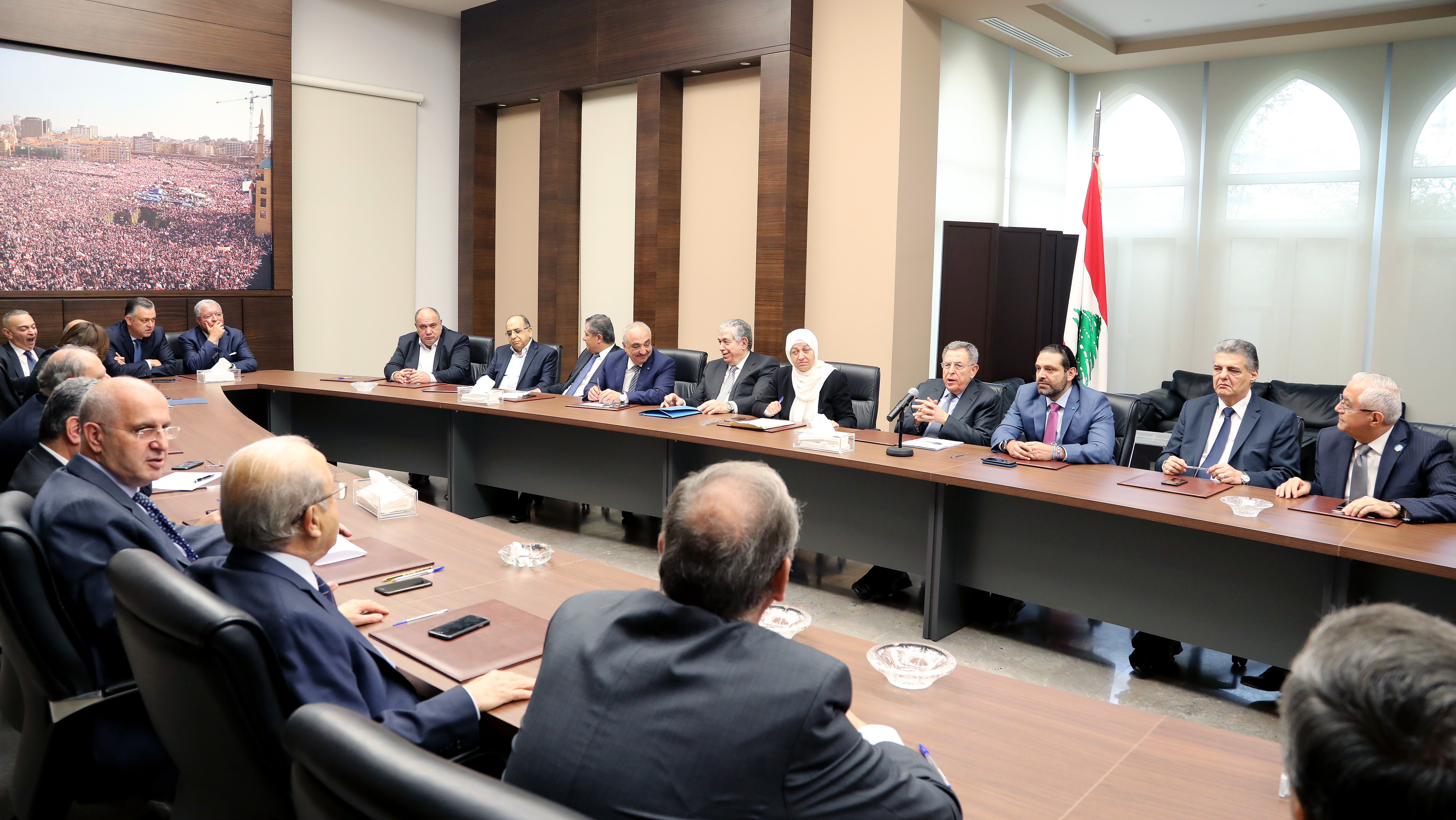 Pr Minister Saad Hariri Heading Almustaqbal MP Bloc 1