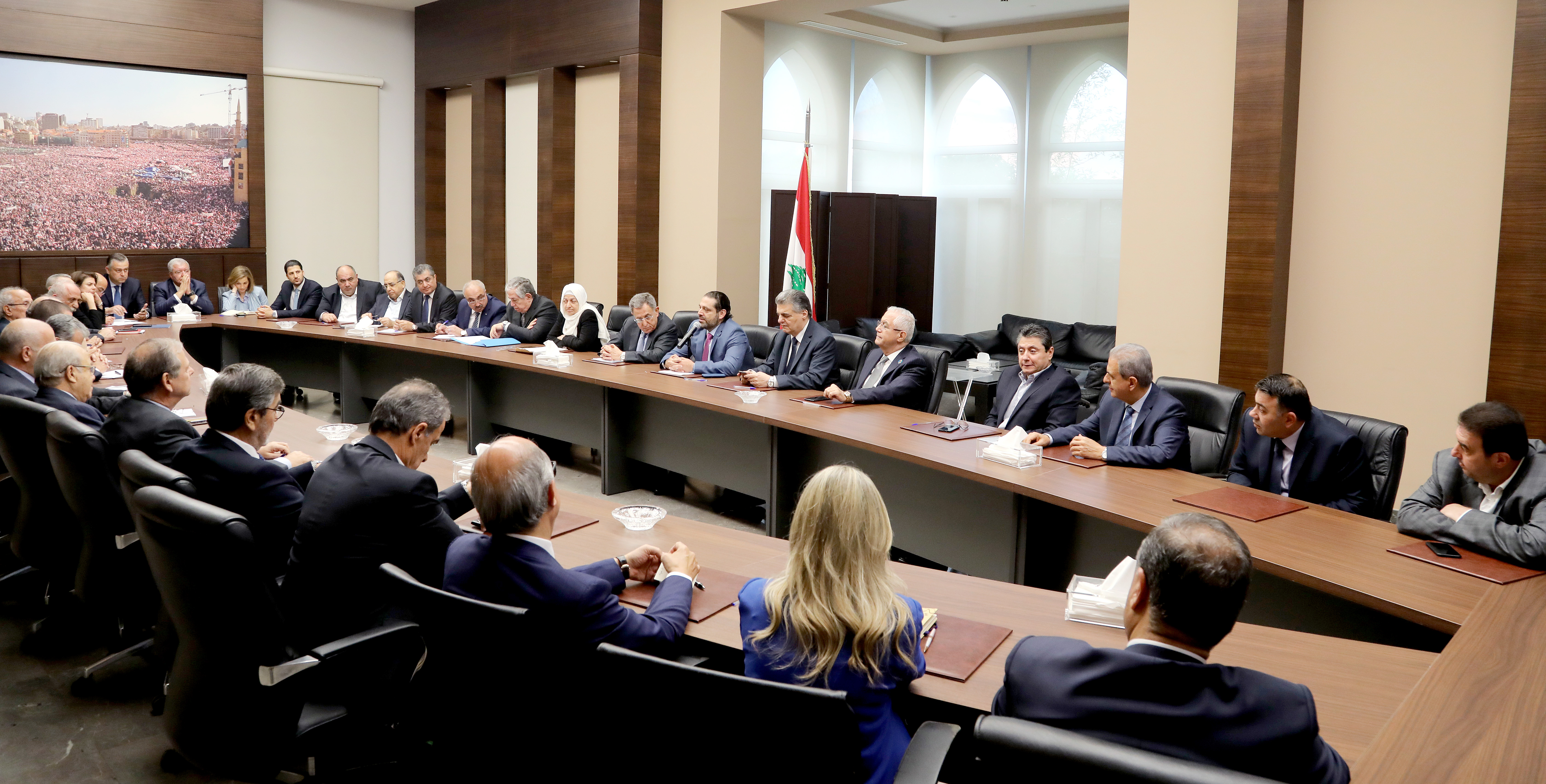 Pr Minister Saad Hariri Heading Almustaqbal MP Bloc 6