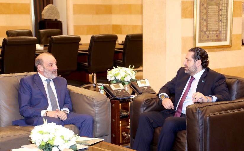 Pr Minister Saad Hariri meets Minister Yacoub Sarraf