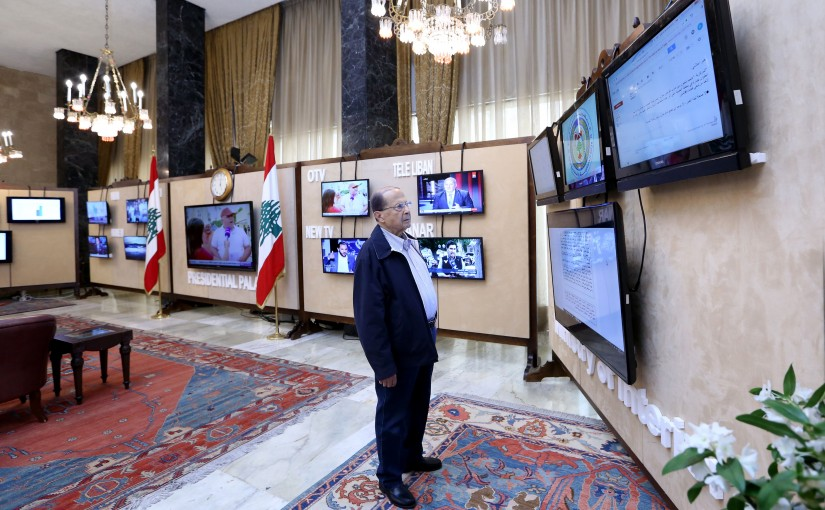 President Michel Aoun in an appeal to the Lebanese before the closing of the ballot boxes.