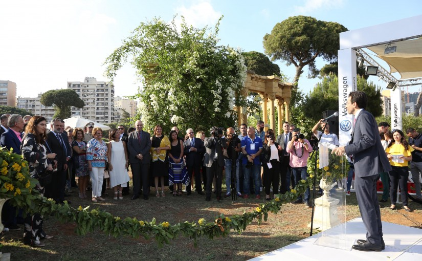 The First Lady Nadia Shamy Aoun opened the Gardens Fair and the Spring Festival.