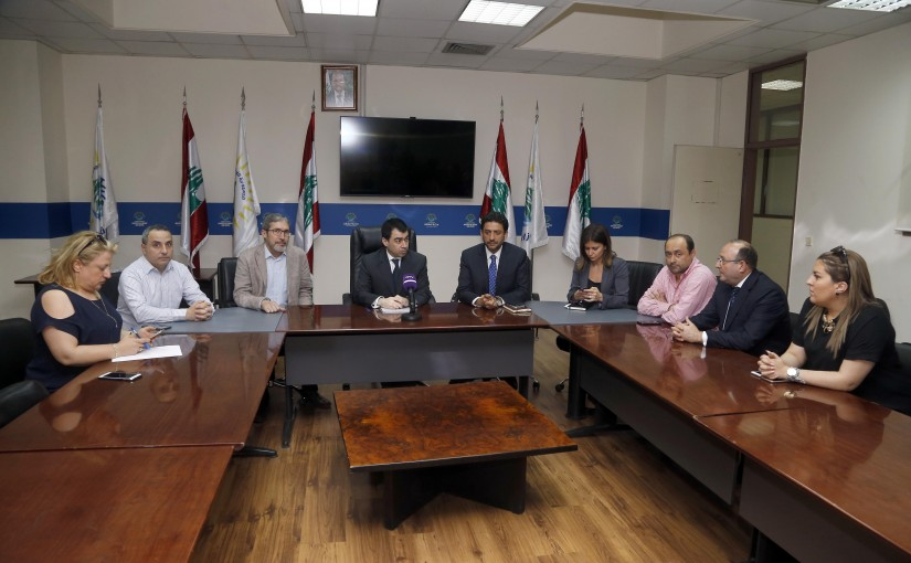 Press Conference for Minister Cesar Abi Khalil