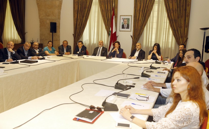 Lecture for Former Minister Raya el Hassan at Grand Serial
