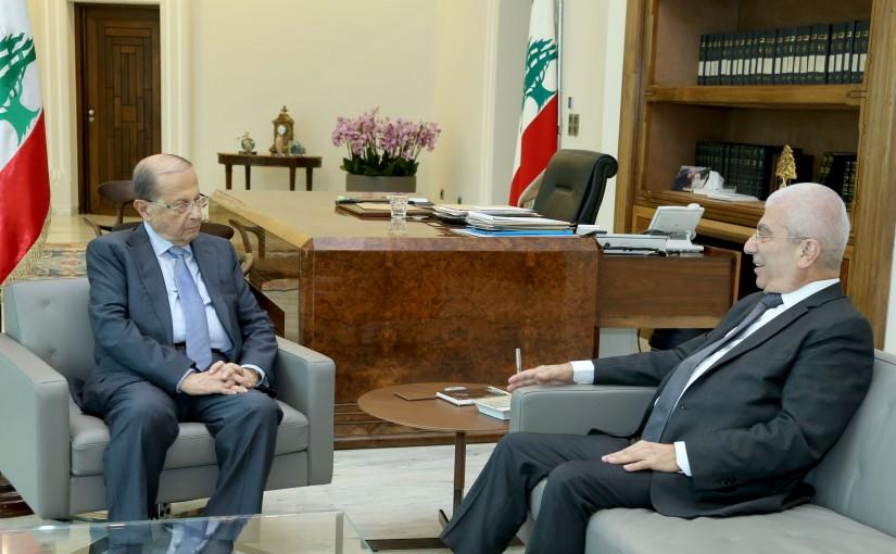 President Michel Aoun meets MP Naji gariyos.