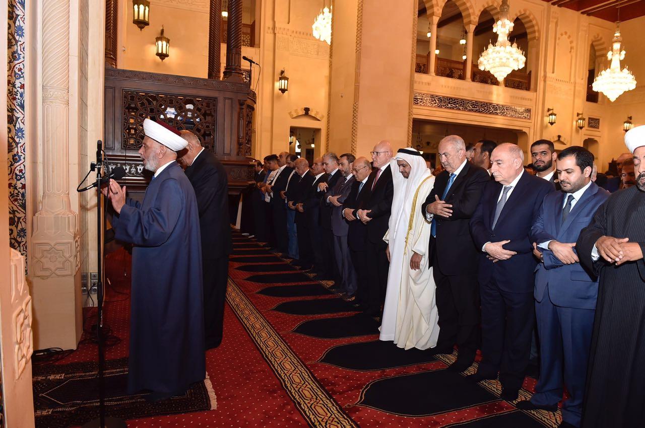 المفتي دريان يؤدي صلاة عيد الفطر 15-6-2018