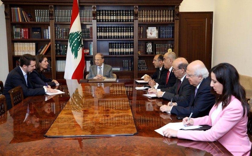 President Michel Aoun meets Ambassador Christina Lassen,