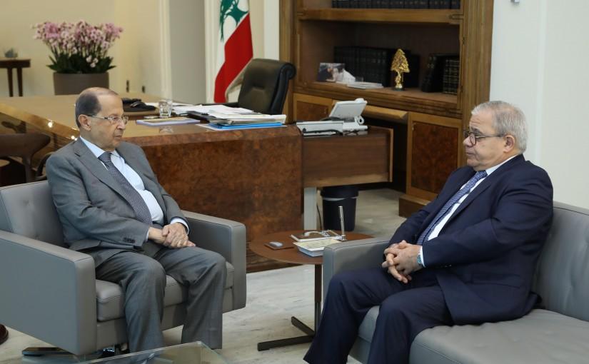 President Michel Aoun Meets MP Mario Aoun