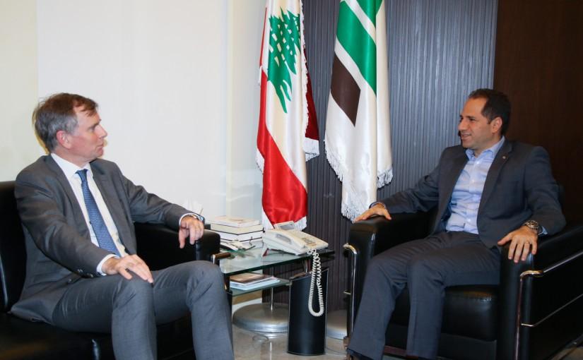 MP Sami Gemayel meets British Ambassador