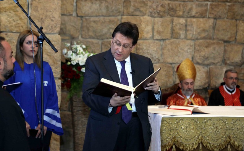 President Michel Aoun & The First Lady Nadia Aoun Attend a Service Mass at Deir El Kalaa Beit Mery