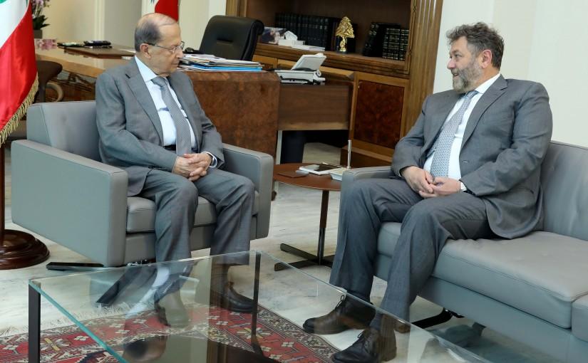 President Michel Aoun meets MP Neamat Efrem.