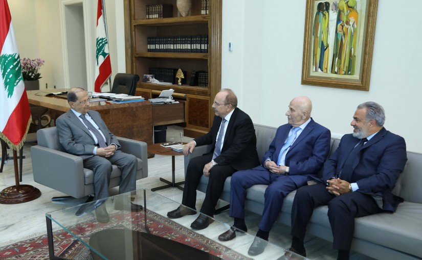 President Michel Aoun Meets a Delegation From The Syrian National Socialist Party