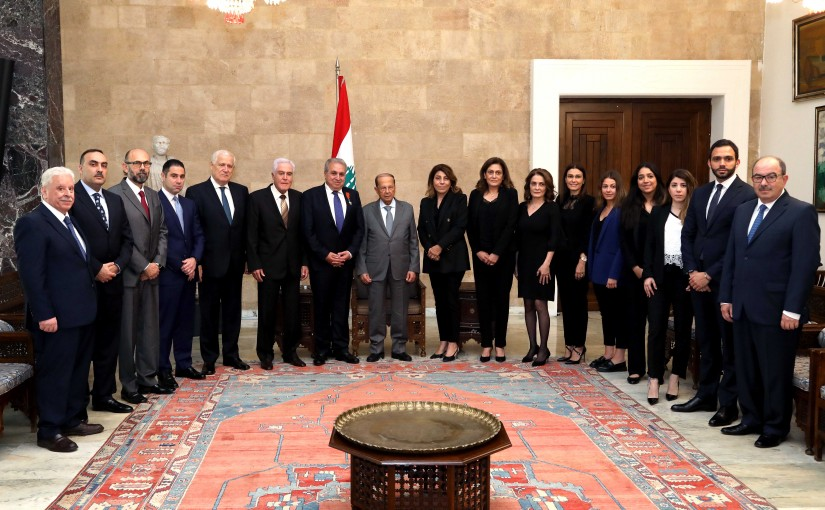 President Michel Aoun meets Engineer Bassam Mehye Al Din Barghouth.