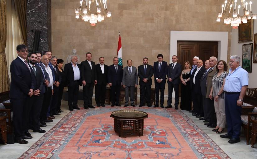 President Michel Aoun Meets a Delegation From Jezzine