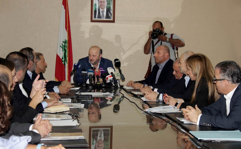 Minister Melhem Riachi meets with the Heads of TV Stations