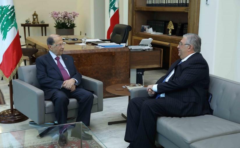 President Michel Aoun Meets Mr Najad Fares