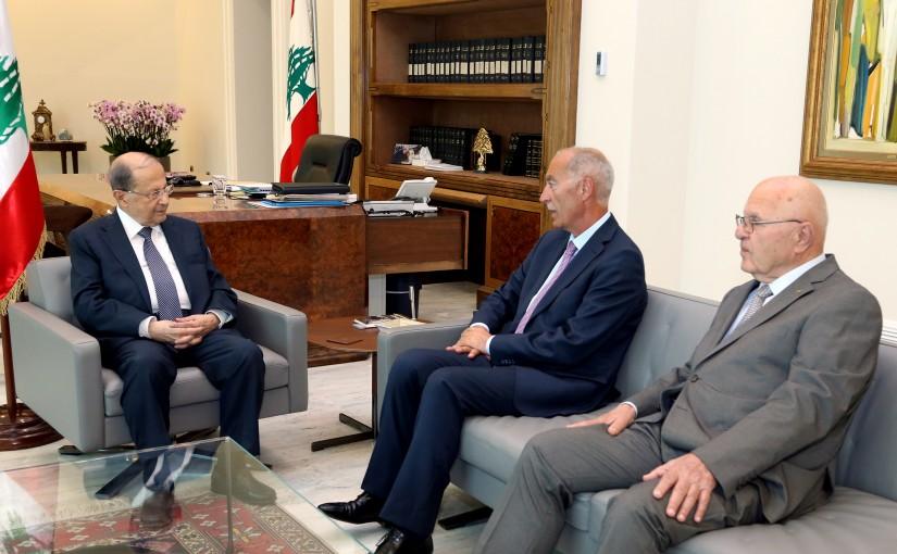 President Michel Aoun meets Former MP Abbas Al Hashem.