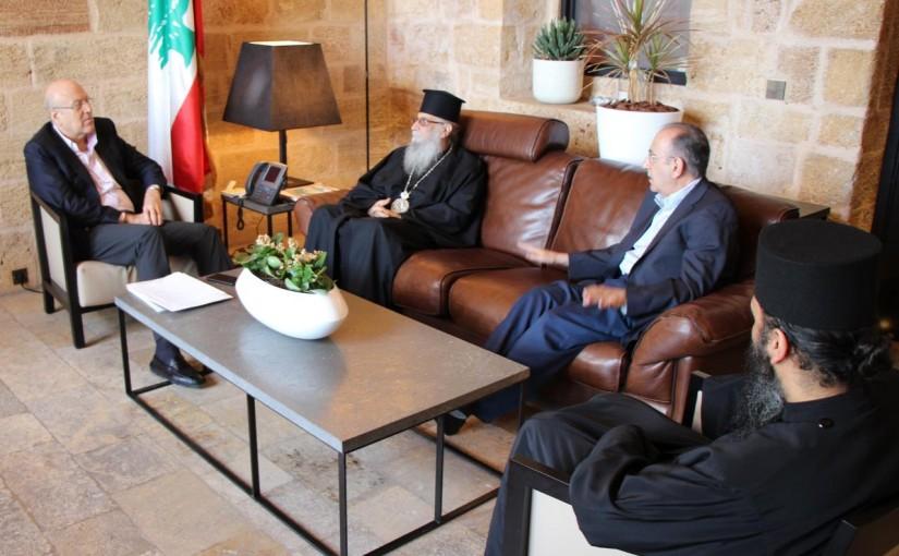 Former Pr Minister Najib Mikati meets Bishop Efram Keryakos